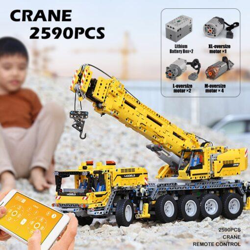 Mould King MOC Technic APP RC Motor Power Mobile Crane Mk II Truck Model Building Blocks 2