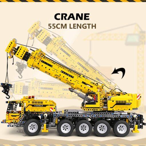 Mould King MOC Technic APP RC Motor Power Mobile Crane Mk II Truck Model Building Blocks 3