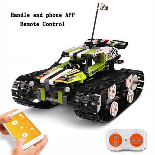 Mould King Technic Series The APP RC Track Remote control Race Car Building Blocks Bricks Educational