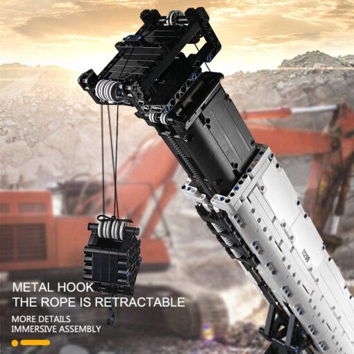 Mould King Technic series RC Engine Power Function Crane LTM Truck with APP Building Brick Blocks 4