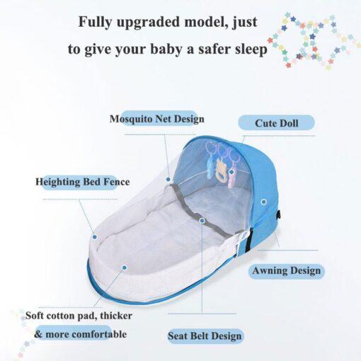 Multi Function Travel Baby Nest Portable Baby Bed Crib Foldable Babynest Bassinet Infant Sleeping Children s 2