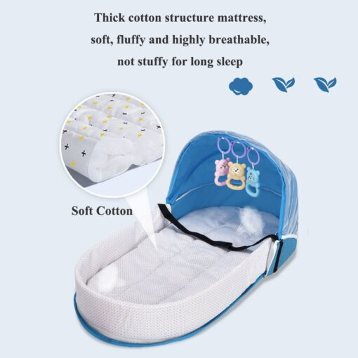 Multi Function Travel Baby Nest Portable Baby Bed Crib Foldable Babynest Bassinet Infant Sleeping Children s 3