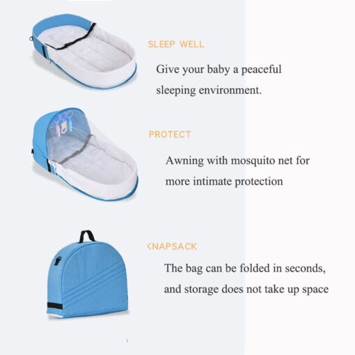 Multi Function Travel Baby Nest Portable Baby Bed Crib Foldable Babynest Bassinet Infant Sleeping Children s 4