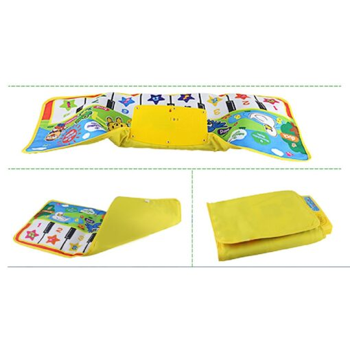 Multi function New Touch Play Keyboard Musical Music Singing Gym Carpet Mat Touch Play Keyboard Musical 2
