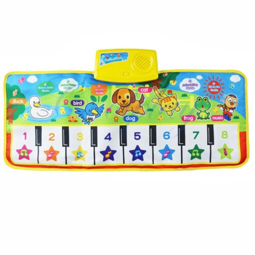 Multi function New Touch Play Keyboard Musical Music Singing Gym Carpet Mat Touch Play Keyboard Musical 5