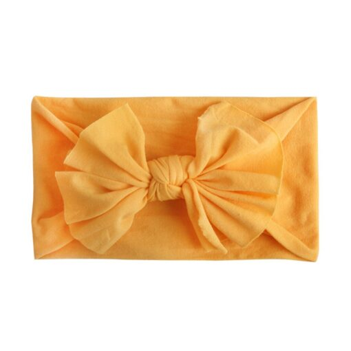 Multicolor Baby Headband Elastic Candy Solid Color Head Wrap Newborn Head bands Bowknot Bows kids Baby 1