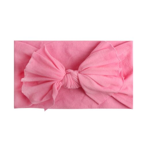Multicolor Baby Headband Elastic Candy Solid Color Head Wrap Newborn Head bands Bowknot Bows kids Baby 4