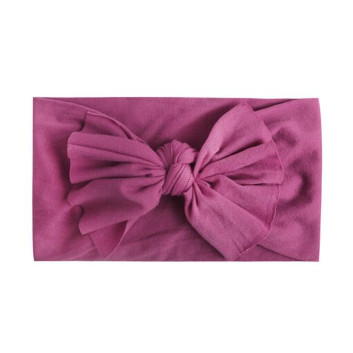 Multicolor Baby Headband Elastic Candy Solid Color Head Wrap Newborn Head bands Bowknot Bows kids Baby