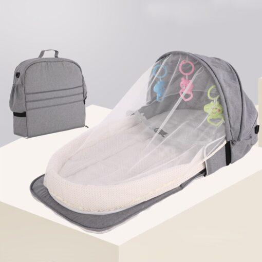 Multifunction Portable Baby Bed Travel Sun Protection Mosquito Net Baby Cribs Foldable Breathable Cunas Mummy Bag