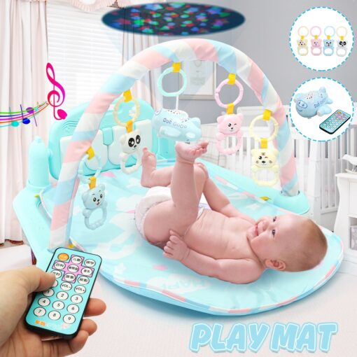 Music Baby Play Mat Gym 3 in1 Newborn Infant Baby Musical Piano Play Mat Blanket Kids