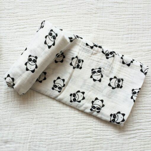 Muslin 100 Cotton Baby Blanket 120 120cm Soft Newborn Blankets 2 Layers Bath Gauze Infant Swaddle 3