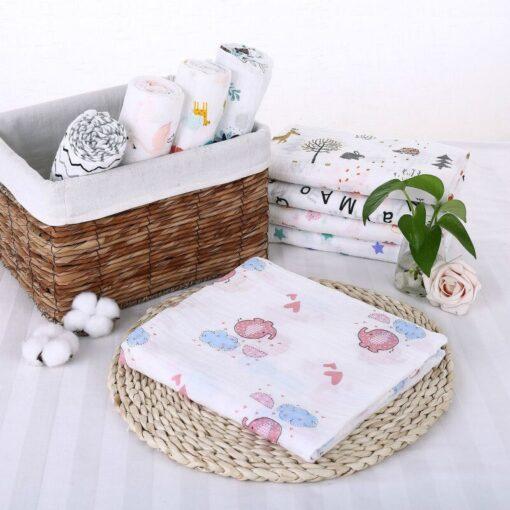 Muslin 100 Cotton Baby Blanket Swaddles Soft Newborn Blankets Bath Gauze Infant Wrap Sleepsack Stroller Cover 1