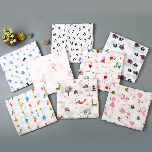 Muslin 100 Cotton Baby Blanket Swaddles Soft Newborn Blankets Bath Gauze Infant Wrap Sleepsack Stroller Cover