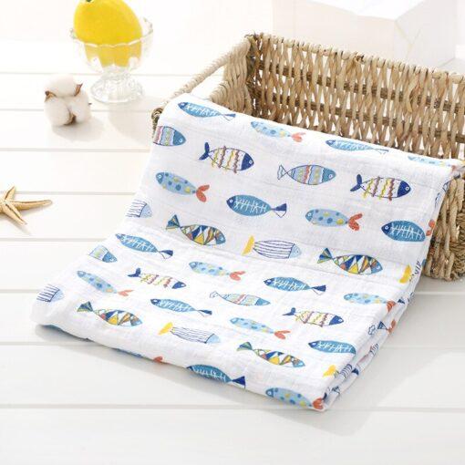 Muslin 100 Cotton Baby Swaddles Soft Newborn Blankets Bath Gauze Infant Wrap Sleepsack Stroller Cover Play 1