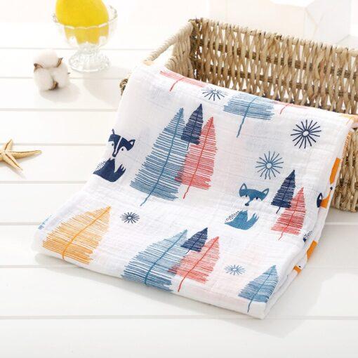 Muslin 100 Cotton Baby Swaddles Soft Newborn Blankets Bath Gauze Infant Wrap Sleepsack Stroller Cover Play 10