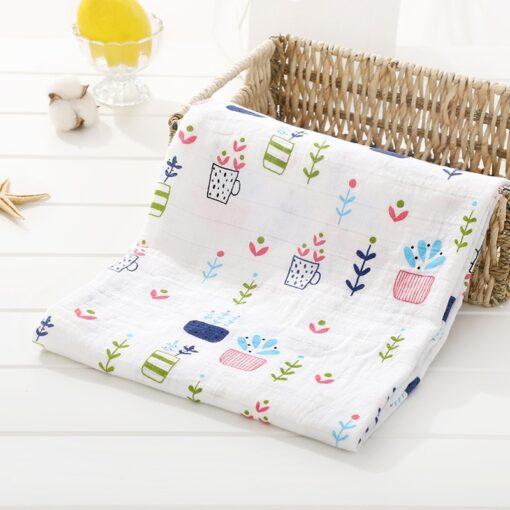 Muslin 100 Cotton Baby Swaddles Soft Newborn Blankets Bath Gauze Infant Wrap Sleepsack Stroller Cover Play 11