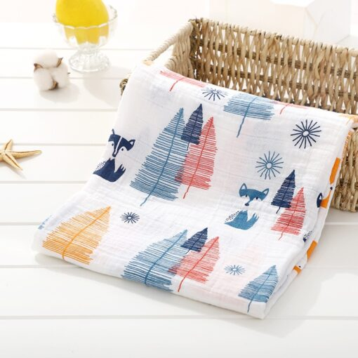 Muslin 100 Cotton Baby Swaddles Soft Newborn Blankets Bath Gauze Infant Wrap Sleepsack Stroller Cover Play 3