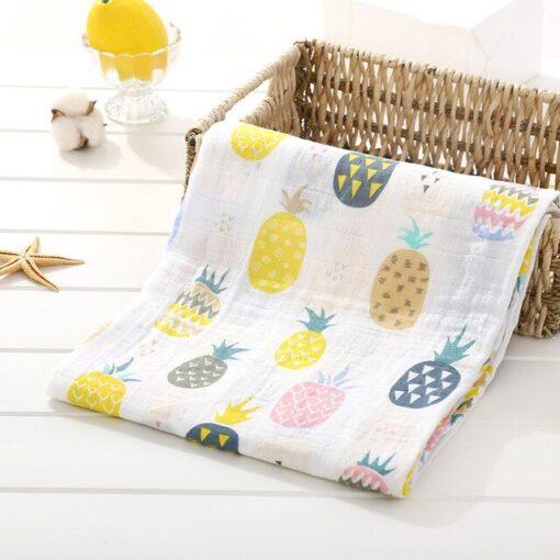 Muslin 100 Cotton Baby Swaddles Soft Newborn Blankets Bath Gauze Infant Wrap Sleepsack Stroller Cover Play 4