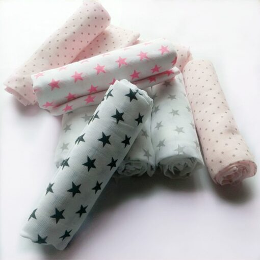 Muslin Diapers Baby Repeated Cloth Nappy Cotton Swaddle Wrap Blanket Newborn Bath Towel Nursing Cover 70 3