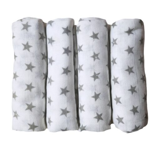 Muslin Diapers Baby Repeated Cloth Nappy Cotton Swaddle Wrap Blanket Newborn Bath Towel Nursing Cover 70