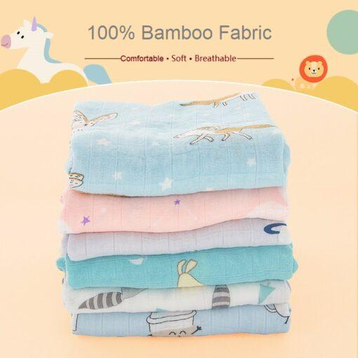 Muslin Swaddle Unicorn Baby Blankets Bamboo Newborn Super Soft Fluffy Monthly Infantil Bath Deken For Kids