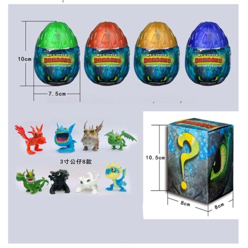 NEW 2019 How to Train Your Dragon egg Light Fury Toothless Action figure Hiccup White Dragon