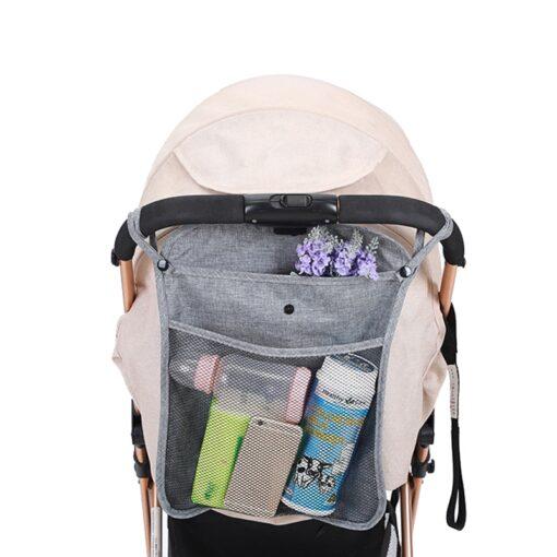 NEW Baby Stroller Bag Hanging Net Portable Baby Umbrella Storage Bag pocket Cup Holder Organizer Universal 2
