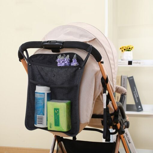 NEW Baby Stroller Bag Hanging Net Portable Baby Umbrella Storage Bag pocket Cup Holder Organizer Universal 3