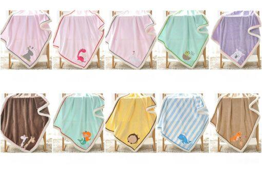 NEW Genuine Baby Blanket Baby Swaddle 100 75CM Wrap Newborn Super Soft Kids Bedding Diaper AKX11 1