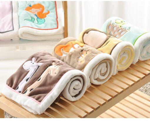NEW Genuine Baby Blanket Baby Swaddle 100 75CM Wrap Newborn Super Soft Kids Bedding Diaper AKX11