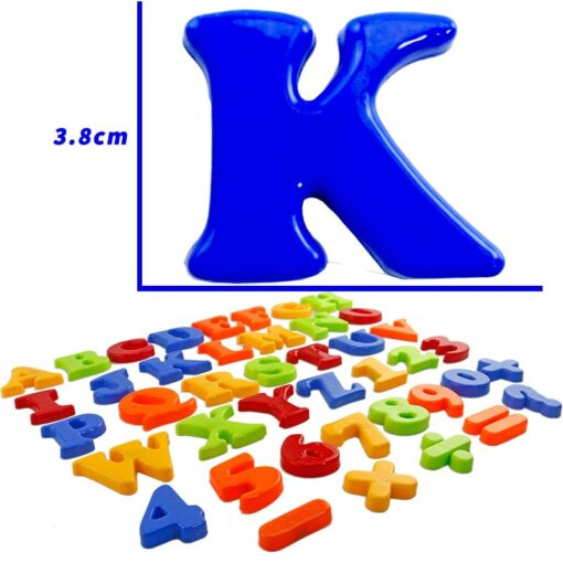NEW Magnetic Alphanumeric Alphabet Educational Refrigerator Magnet 26 Capital Letters 10 Numbers 6 Notation 1 Set 2