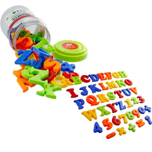 NEW Magnetic Alphanumeric Alphabet Educational Refrigerator Magnet 26 Capital Letters 10 Numbers 6 Notation 1 Set 3