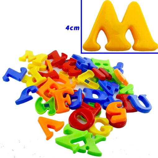 NEW Magnetic Alphanumeric Alphabet Educational Refrigerator Magnet 26 Capital Letters 10 Numbers 6 Notation 1 Set 4