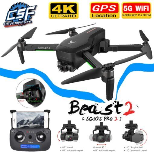 NEW SG906 SG906 Pro 2 GPS Drone with Wifi FPV 4K Camera Three axis anti shake