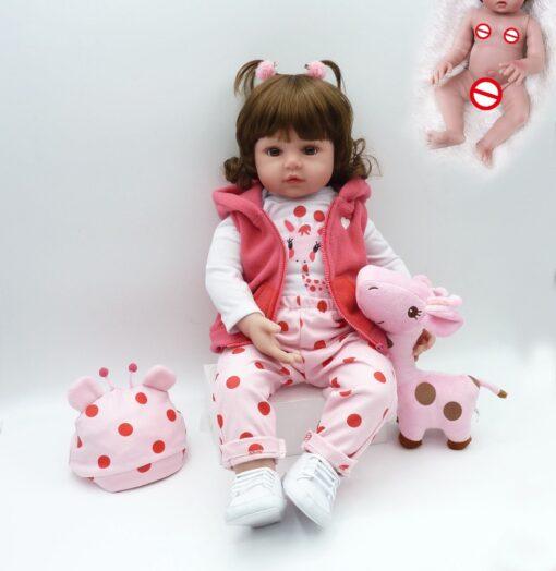 NPK hot selling 48cm Full body silicone reborn toddler baby dolls lifelike soft touch bebe doll 1