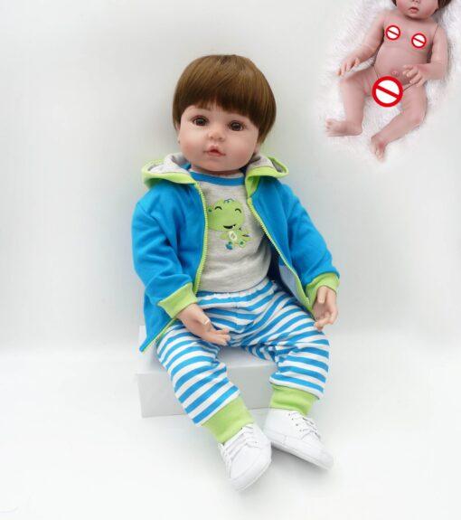 NPK hot selling 48cm Full body silicone reborn toddler baby dolls lifelike soft touch bebe doll 2 scaled