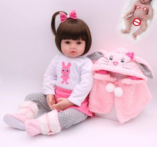 NPK hot selling 48cm Full body silicone reborn toddler baby dolls lifelike soft touch bebe doll 3