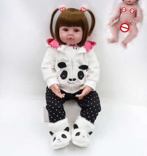 NPK hot selling 48cm Full body silicone reborn toddler baby dolls lifelike soft touch bebe doll 4