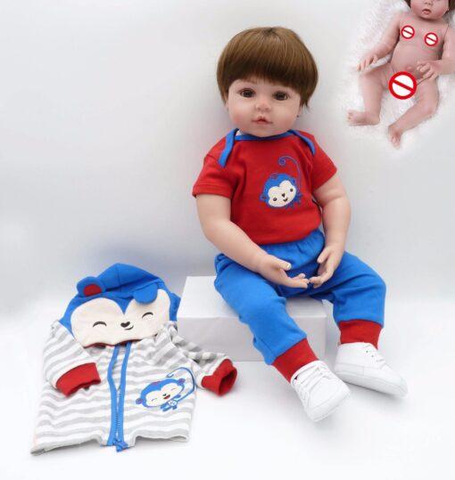 NPK hot selling 48cm Full body silicone reborn toddler baby dolls lifelike soft touch bebe doll 5