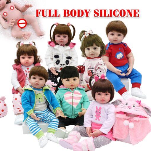 NPK hot selling 48cm Full body silicone reborn toddler baby dolls lifelike soft touch bebe doll