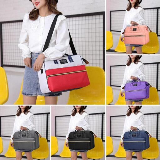 Nappy Bag Mummy Large Capacity Bag Mom Baby Multi function Waterproof Outdoor Travel Diaper Bags Stroller 2