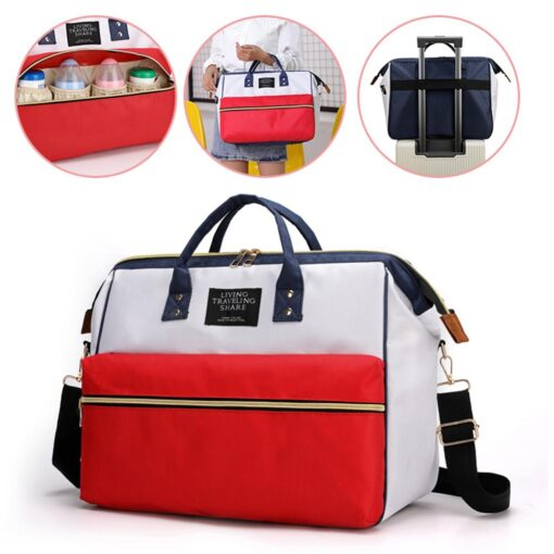 Nappy Bag Mummy Large Capacity Bag Mom Baby Multi function Waterproof Outdoor Travel Diaper Bags Stroller 4