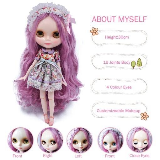 Neo Blyth Doll NBL Customized Shiny Face 1 6 BJD Ball Jointed Doll Ob24 Doll Blyth 2