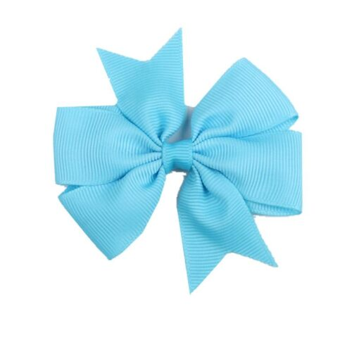 New 1 Pcs Girl Dovetail Hair Clip Ribbon Bow Knot Hairpin Kids Hair Accessories 5 Color 3