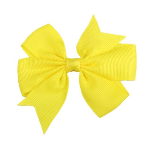 New 1 Pcs Girl Dovetail Hair Clip Ribbon Bow Knot Hairpin Kids Hair Accessories 5 Color 4
