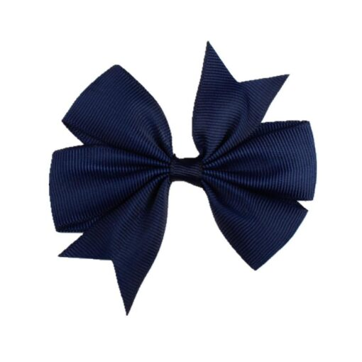 New 1 Pcs Girl Dovetail Hair Clip Ribbon Bow Knot Hairpin Kids Hair Accessories 5 Color 5