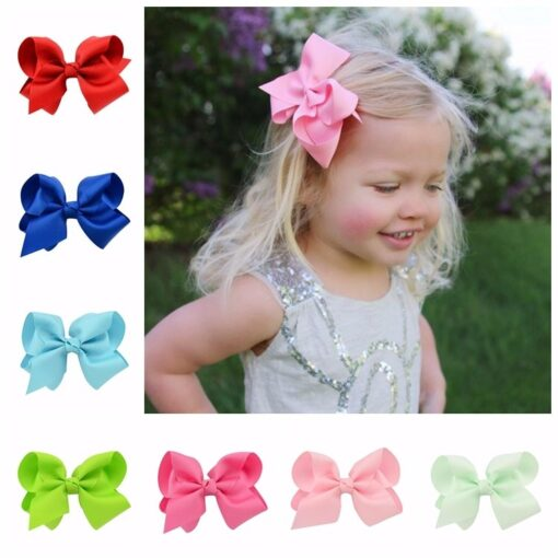 New 1 Pcs Girl Dovetail Hair Clip Ribbon Bow Knot Hairpin Kids Hair Accessories 5 Color
