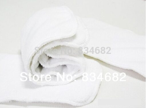 New 10 PCS Washable Microfiber Baby Cloth Diaper Nappy Liners Inserts 2 Layers Super Soft Hot 1