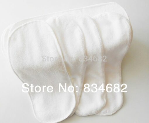 New 10 PCS Washable Microfiber Baby Cloth Diaper Nappy Liners Inserts 2 Layers Super Soft Hot 2