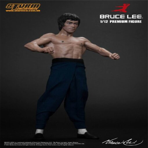 New 20CM Bruce Lee Bat Muscle Figure Full Body Real Clothes Interchangeable Head Double Head Action 4